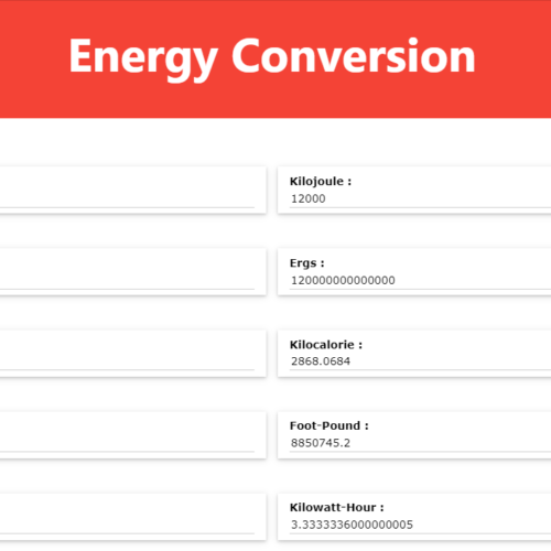 Electricity Power Energy Calculator Tool in Browser (Full Source Code)