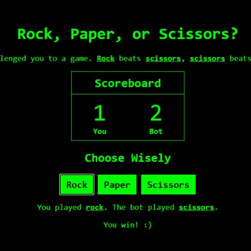Rock Paper Scissors Web Browser Game (Full Source Code)