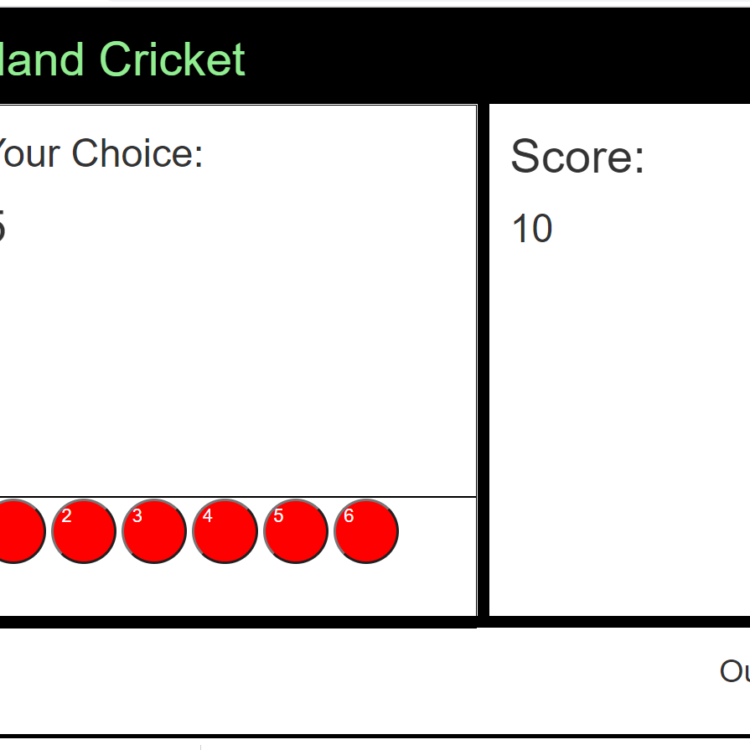 Multiplayer Hand Cricket Browser Game (Full Source Code)