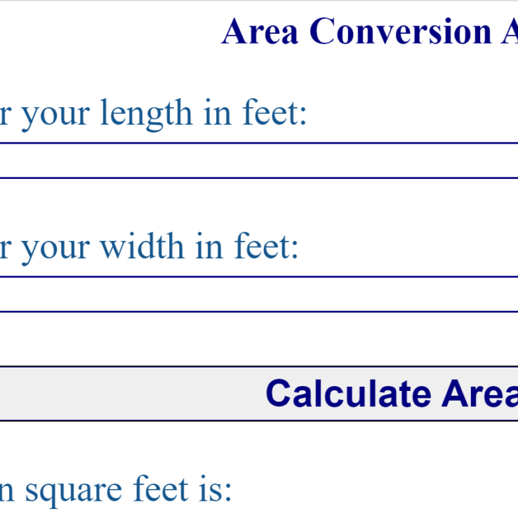 Area Calculator Web App in Browser (Full Source Code)