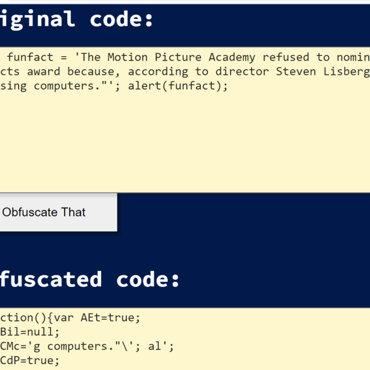 Javascript Code Obfuscator (Hides or Protects Code) Tool in Browser (Full Source Code)