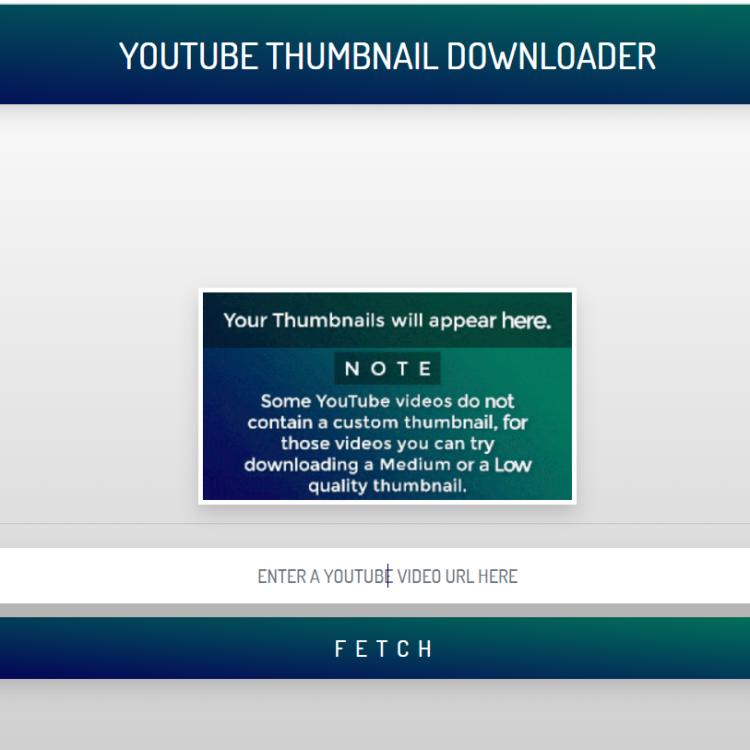 Youtube Video Thumbnail Downloader Browser Web App Script (Full Source Code)