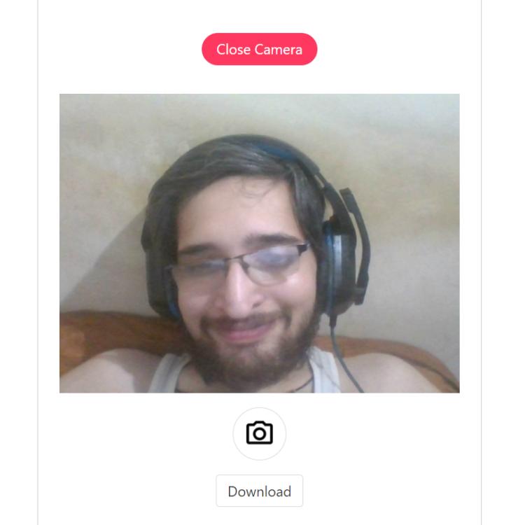 Vue.js Adsense Earning Webcam Selfie Capture Online Web App For Sale in Browser